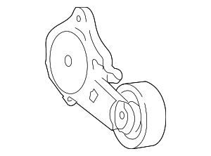 Accessory Drive Belt Tensioner Assembly - Ford (2W7Z-6B209-AA)