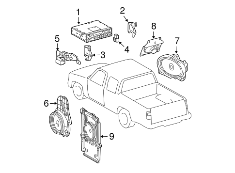 BODY/SOUND SYSTEM for 2000 Toyota Tacoma #1