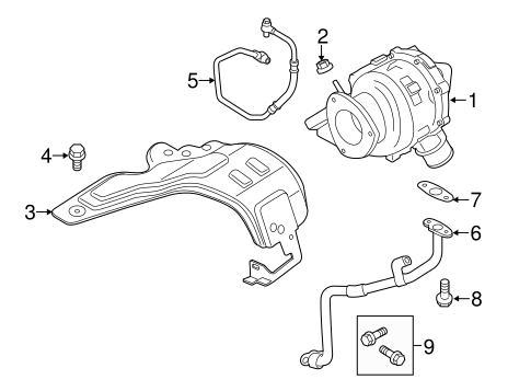 Engine/Turbocharger & Components for 2015 Ford Transit-150 #1