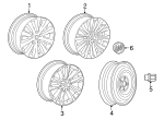 Wheel, Alloy - GM (22758351)