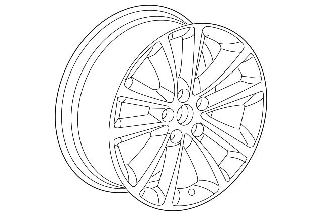 genuine oem wheel  alloy