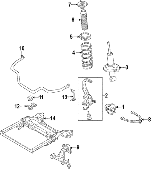 Front Suspension/Suspension Components for 2014 Nissan 370Z #1