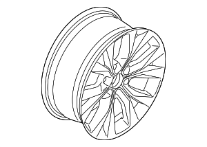 Wheel, Alloy - Ford (KL3Z-1007-A)