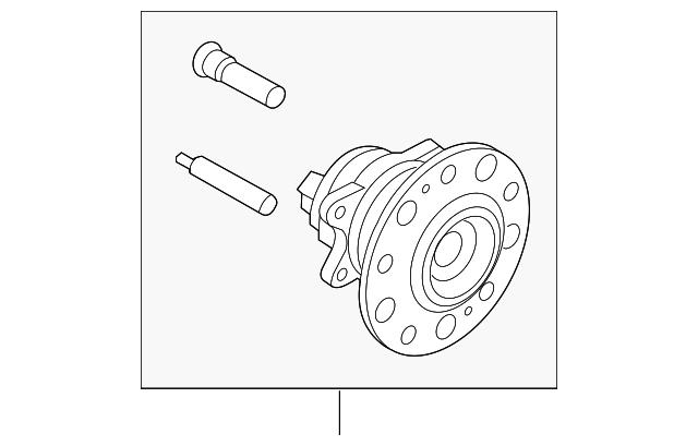 genuine oem hub  u0026 bearing part  52730