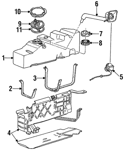 Fuel System Components For 1996 Ford Ranger
