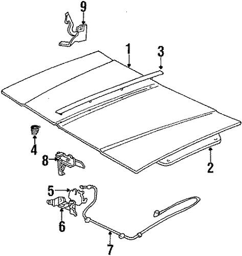 oem 1985 buick skylark hood  u0026 components parts