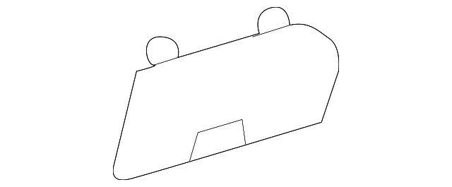 fuse box cover - toyota (55545-35020-b0)