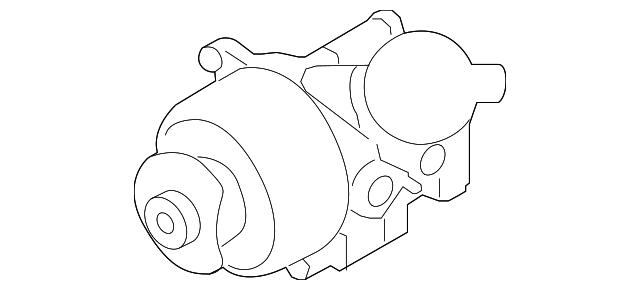 Genuine Porsche Power Steering Pump 958 314 022 10