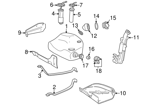 Fuel System Components For 1998 Volvo V70
