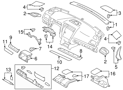 Instrument Panel Components for 2016 Subaru Legacy #0
