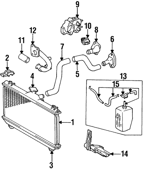 Radiator Components For 1995 Toyota Corolla Toyota Parts Center