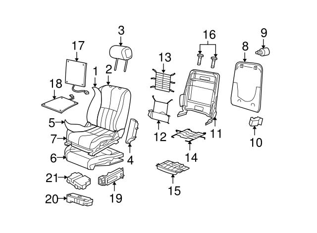 2003 2004 jaguar seat cushion pad c2c23486 jaguar parts direct