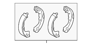 Brake Shoes - Mitsubishi (4600A028)