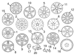 Wheel - Mercedes-Benz (212-401-21-02-9709)