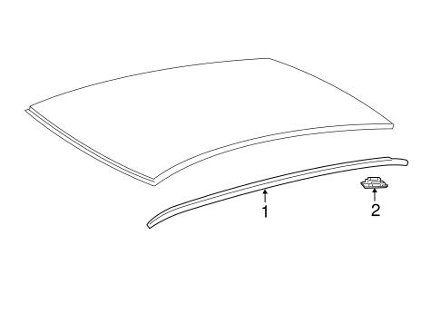 exterior trim roof for 2017 toyota camry 1