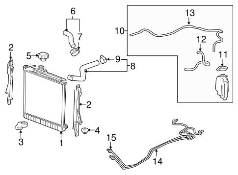 2009 hummer h3 engine diagram radiator   components for 2009 hummer h3 gmpartonline  2009 hummer h3