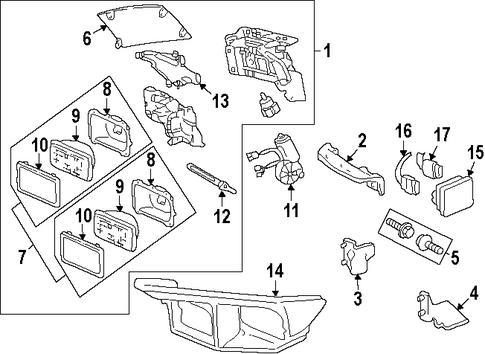 oem 2000 pontiac firebird headlamp components parts. Black Bedroom Furniture Sets. Home Design Ideas