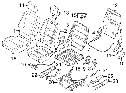 Body/Second Row Seats for 2015 Ford Explorer #4