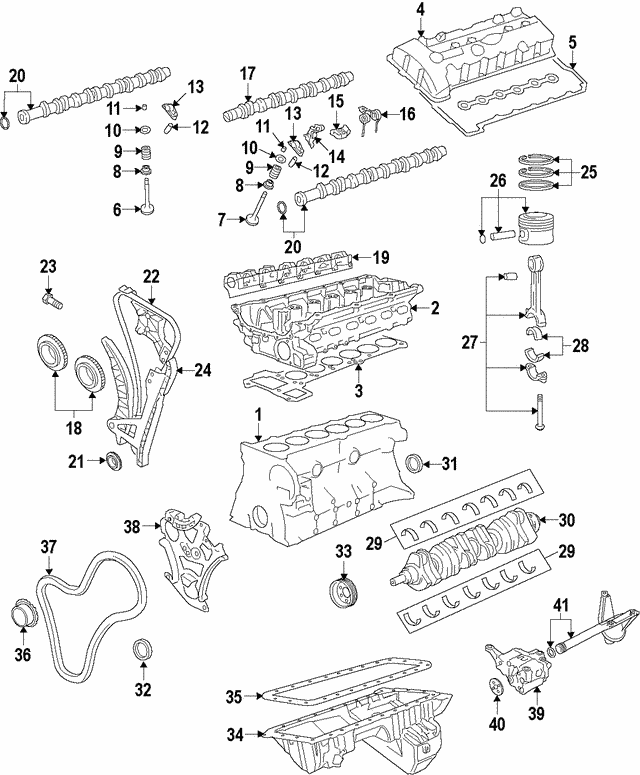 Rail & Guide Assembly - BMW (11-31-7-542-837)