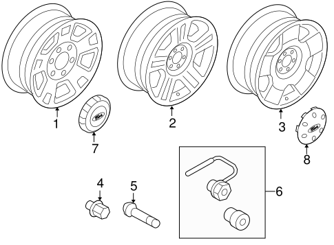 Front Suspension/Wheels for 2004 Ford F-150 #1