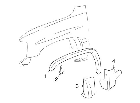 Exterior Trim - Fender for 2000 GMC Yukon #0