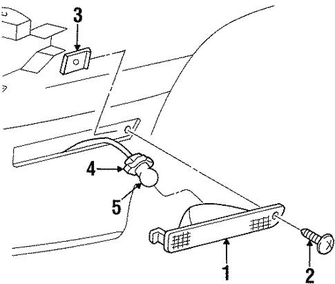 Side Marker Lamps For 1998 Oldsmobile Cutlass