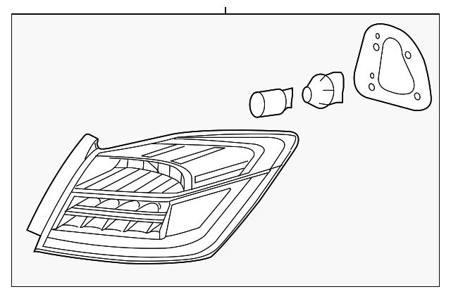 2017 honda accord hybrid sedan taillight assembly  l 33550