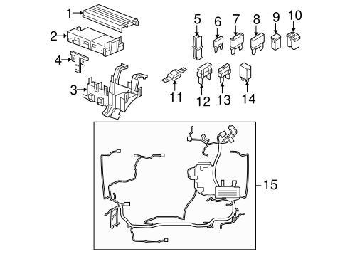 oem 2007 lincoln mkz fuse relay parts. Black Bedroom Furniture Sets. Home Design Ideas