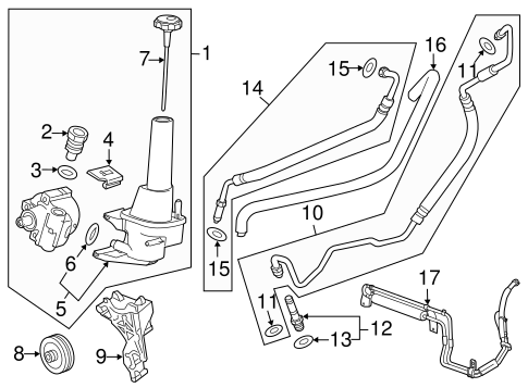 T8227248 2007 together with Chevy 1996 305 Engine Diagram together with 98 F150 Wiring Diagram additionally 23121750 likewise Power Steering Pump History. on cadillac power steering pump replacement