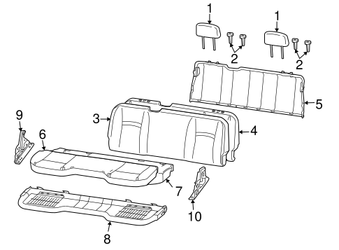 Rear Seat Components For 2011 Ram 1500