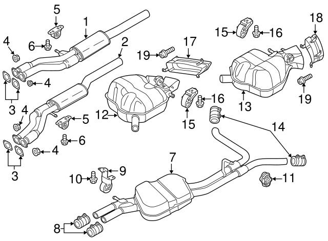 2012 2014 Audi A8 Quattro Tail Pipe Extension 4h0 253 825 C