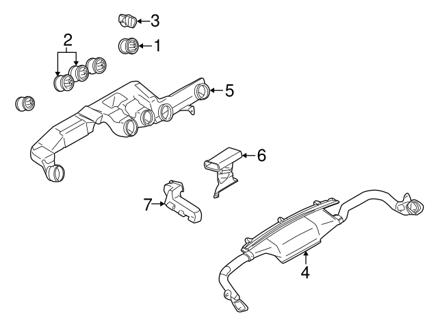 2005 Dodge Stratus Exhaust System Diagram