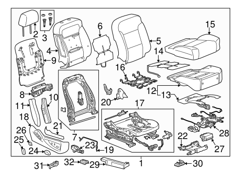 Passenger Seat Components for 2018 GMC Sierra 1500 #2