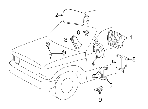 Electrical/Air Bag Components for 2008 Ford Ranger #1