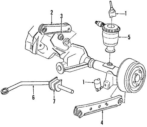 Oem 1990 Lincoln Mark Vii Rear Suspension Parts
