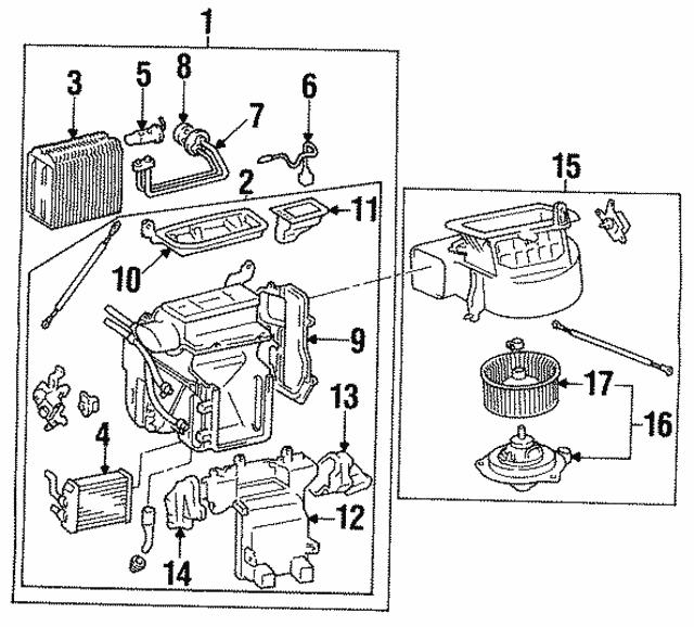 1992 1997 Toyota Heater Core 87107 33020