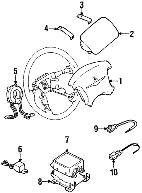 Air Bag Components For 1997 Dodge Avenger