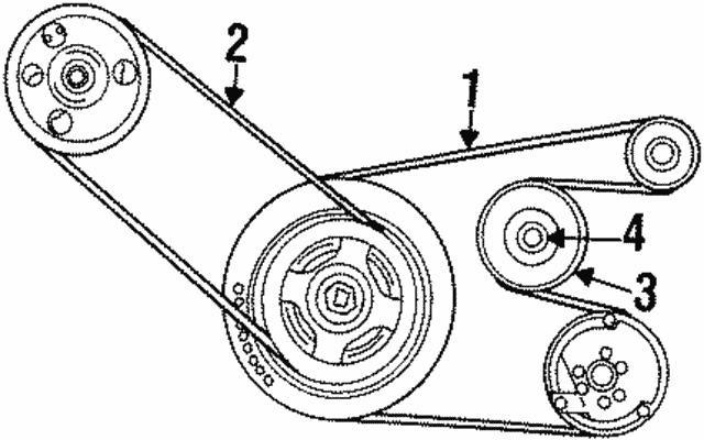 1995 2000 Mopar Power Steering Belt 4663182ac