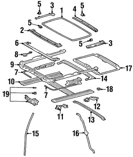 BODY/SUNROOF for 1999 Toyota Avalon #1