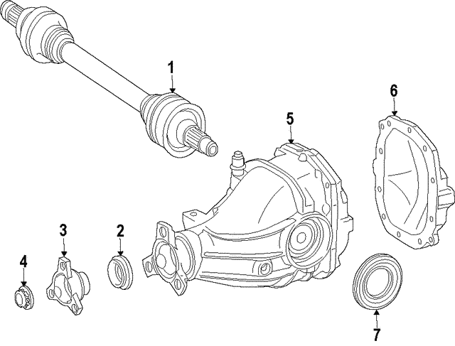 Axle Cover - Mercedes-Benz (166-351-10-08)