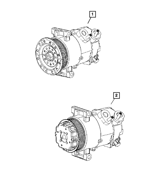 Air Conditioning Compressor - Mopar (2AMA8228AA)