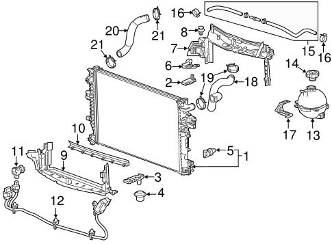 oem 2016 chevrolet malibu radiator components parts. Black Bedroom Furniture Sets. Home Design Ideas