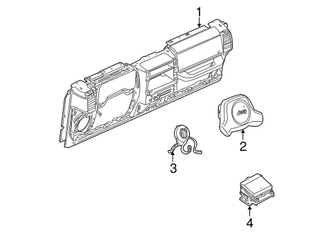 Air Bag Components For 2000 Jeep Wrangler