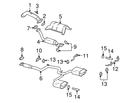 exhaust components for 2005 chevrolet impala #1
