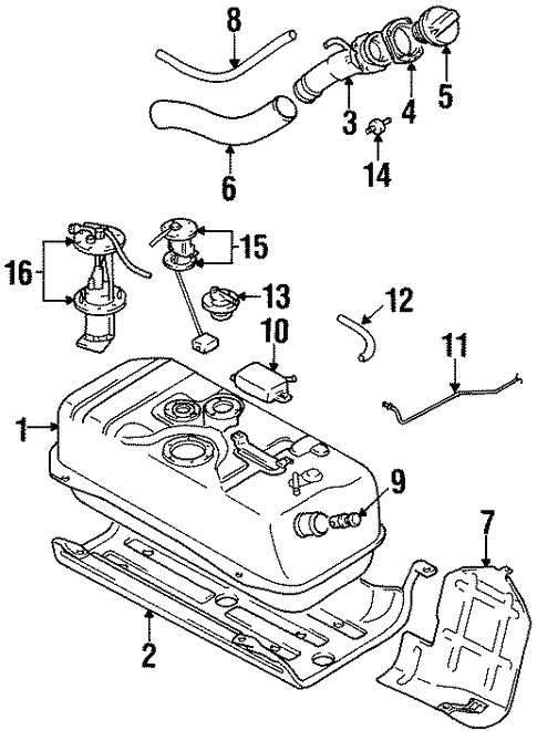 Fuel System Components For 1997 Suzuki X 90