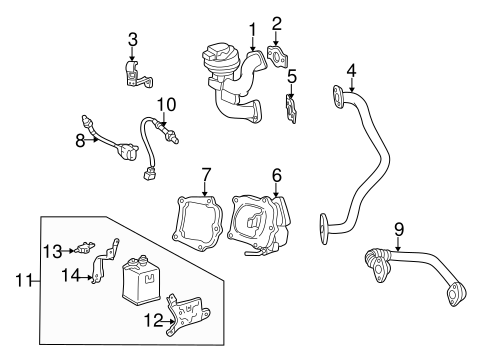 EMISSION SYSTEM/EGR SYSTEM for 2000 Toyota Camry #1
