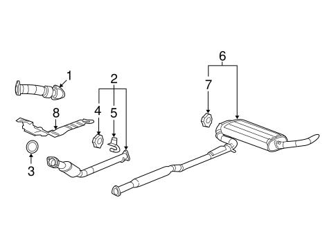 [WLLP_2054]   Exhaust Components for 2005 Chevrolet Equinox | GMPartOnline | 2005 Equinox Engine Diagram |  | GM Parts Online