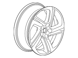 Wheel, Alloy - GM (22968932)