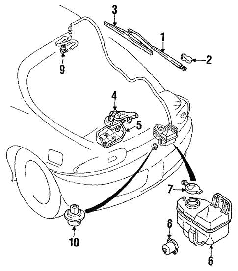 Mazda EA25-67-340 Windshield Wiper Motor