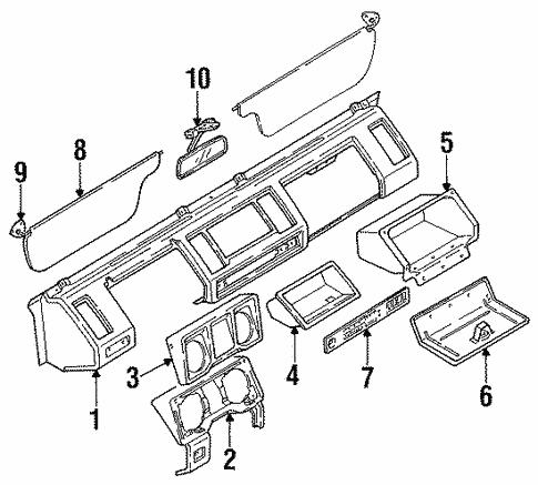 Instrument Panel For 1991 Isuzu Trooper